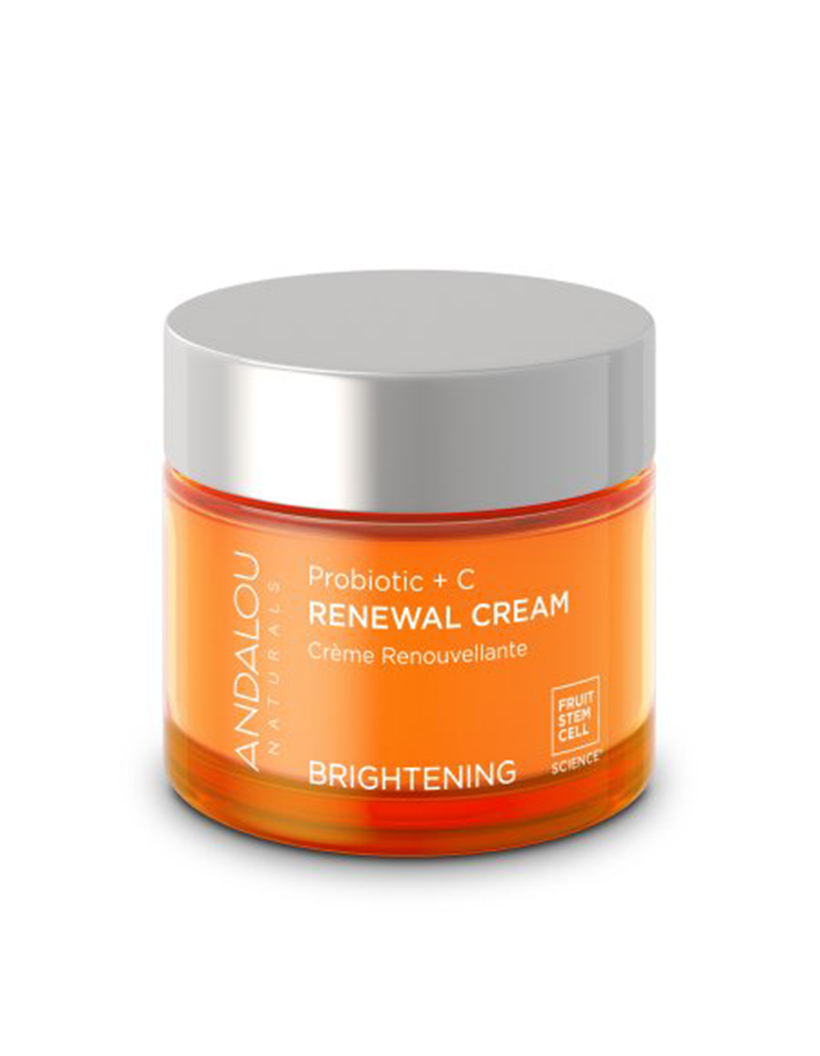Andalou Naturals Face Cream Probiotic + C Renewal Cream What's better than the power of probiotics for your skin. Probiotics combined with the antioxidant power of vitamin C—together, they make a seriously skin-brightening duo.