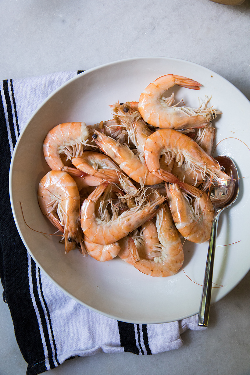 fresh prawns from the asian market