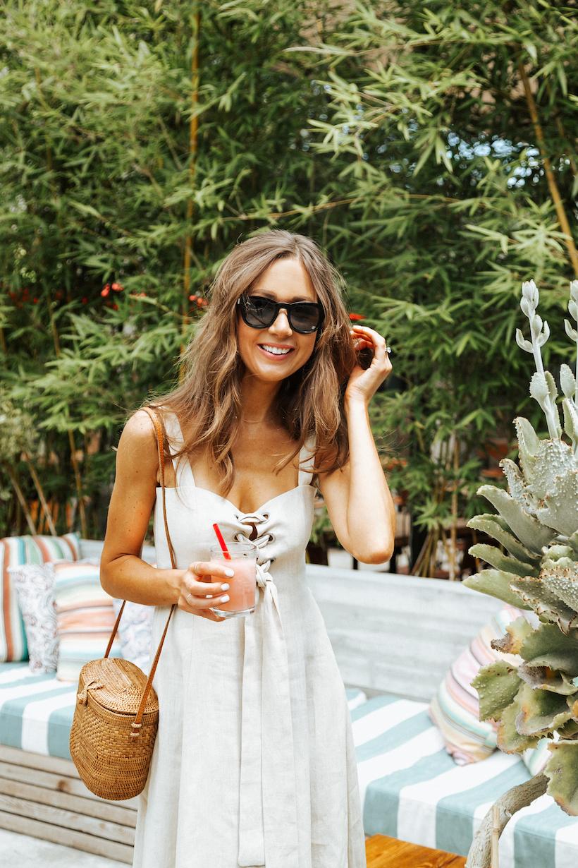 Camille Styles at Hotel San José Patio