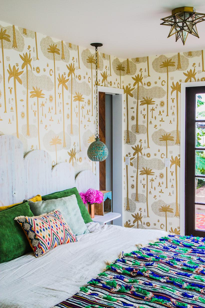 justina blakeney's patterned bedroom