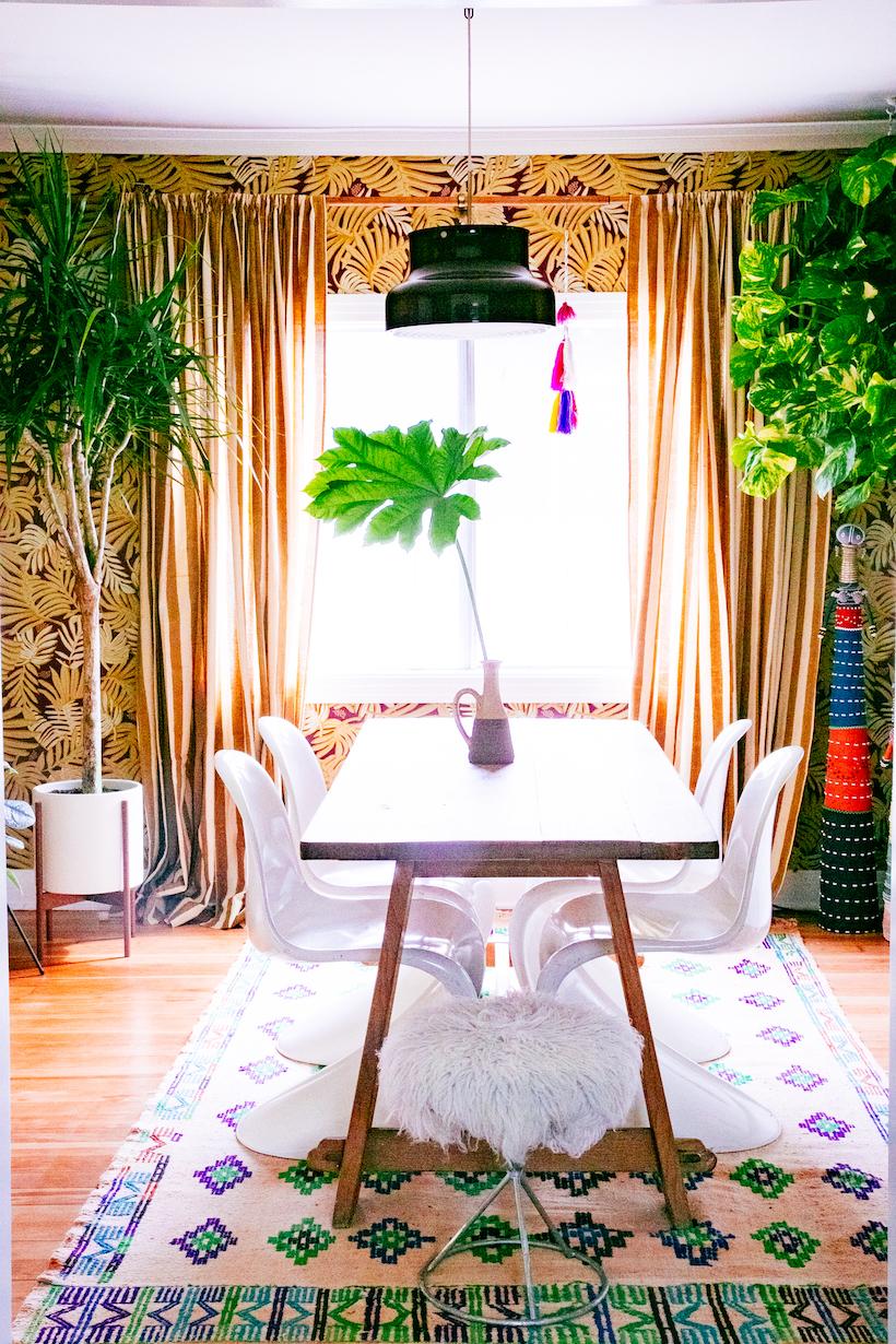 Justina Blakeney's jungalow dining room