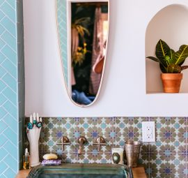 moroccan inspired bathroom tile