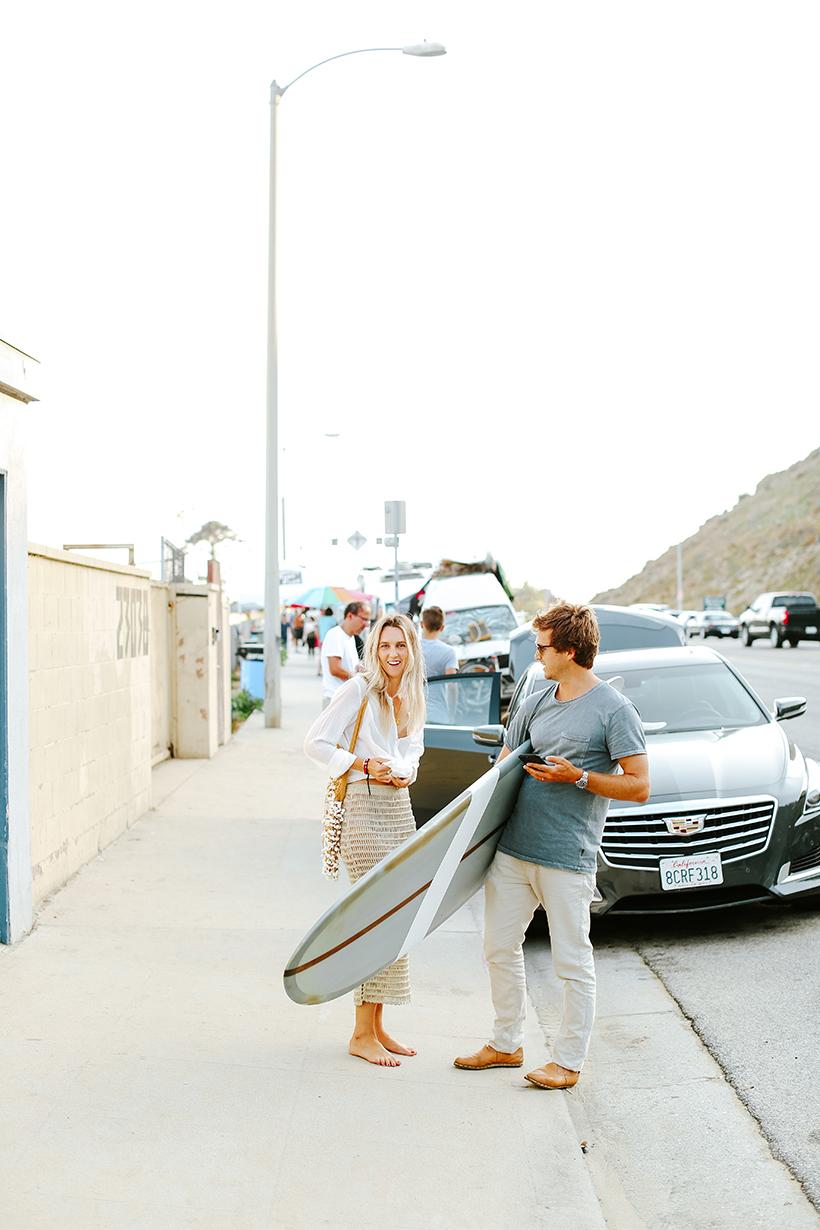Emma Crowther Goodwin and Matt Goodwin of the Surfrider Malibu