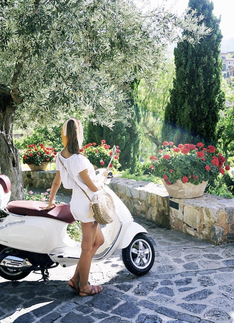Vespa ride through Deia, Mallorca