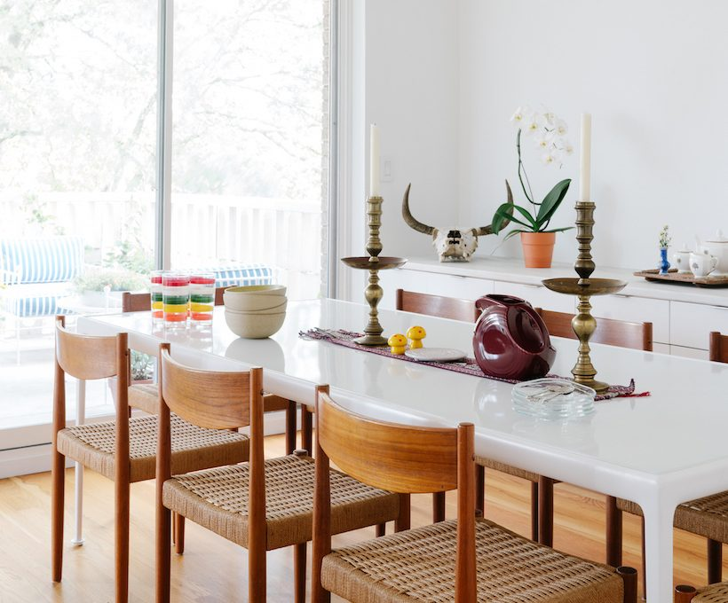 bright and colorful dining area