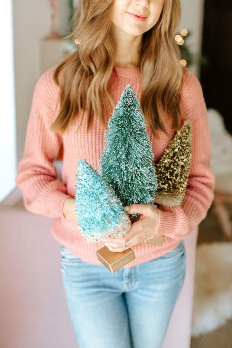 bottlebrush christmas trees from target