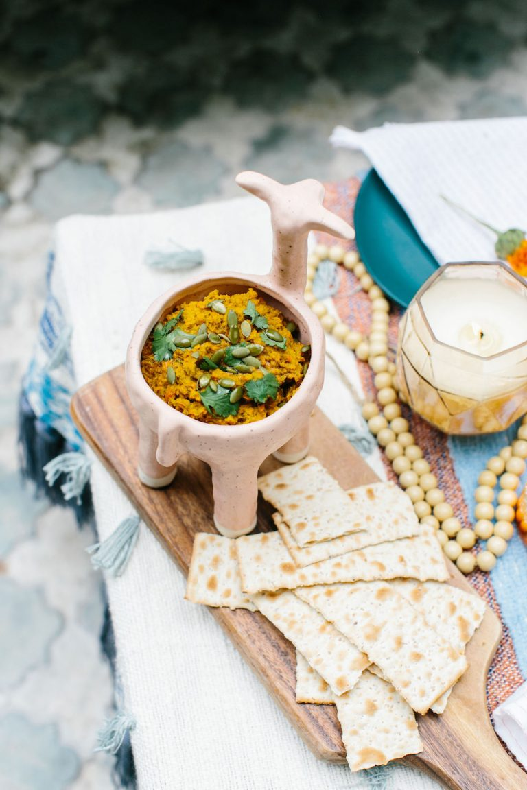 Peruvian Carrot Pesto is the perfect dinner party appetizer with a global twist!