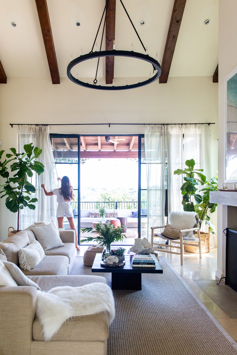 bright and cozy interiors with neutral furniture