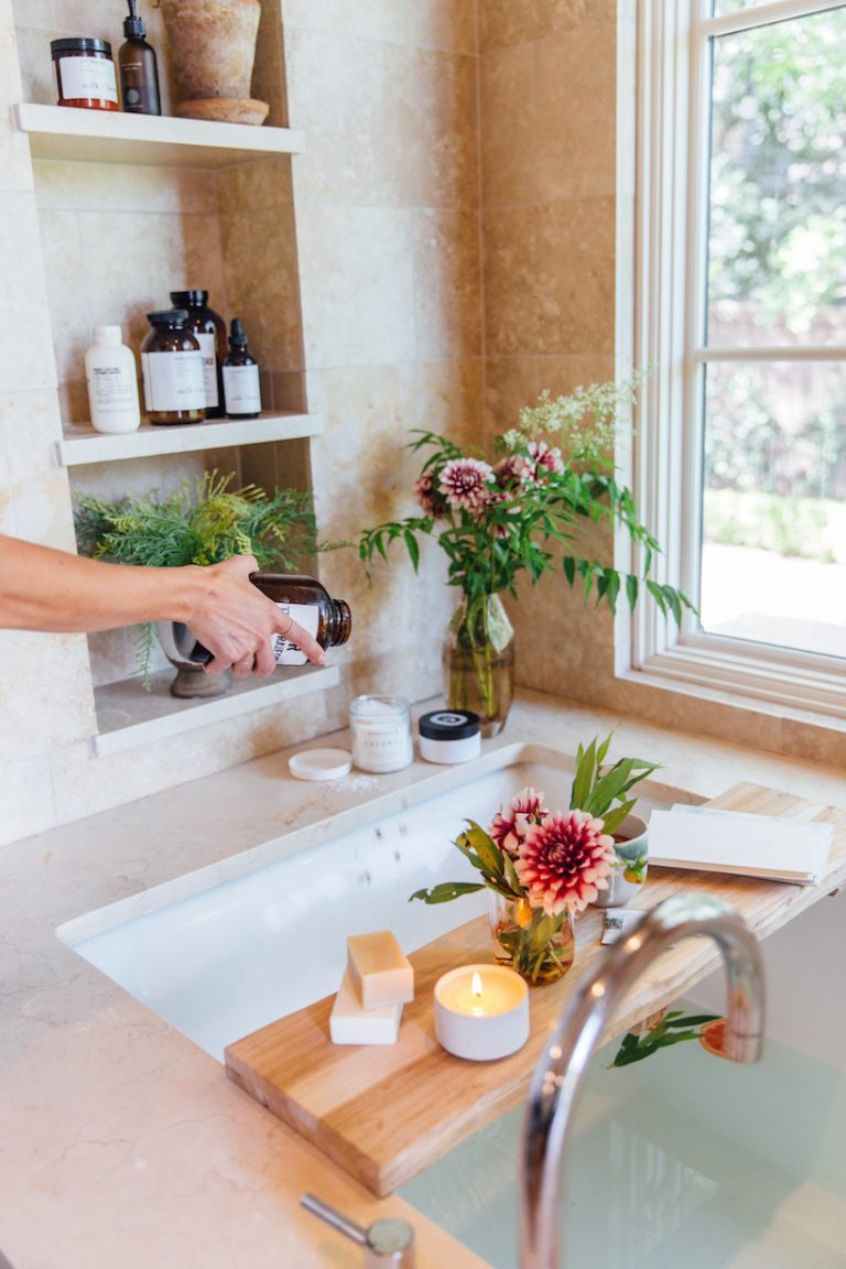 bath salts and essential products for the perfect bath