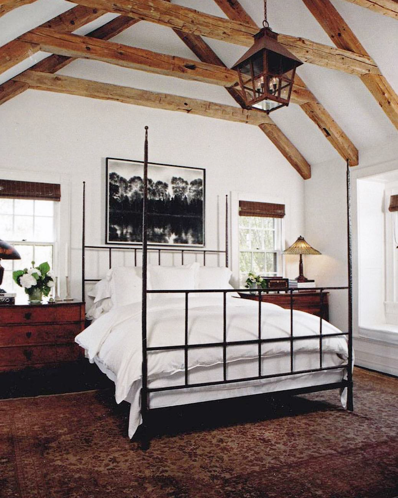 modern rustic four poster bed