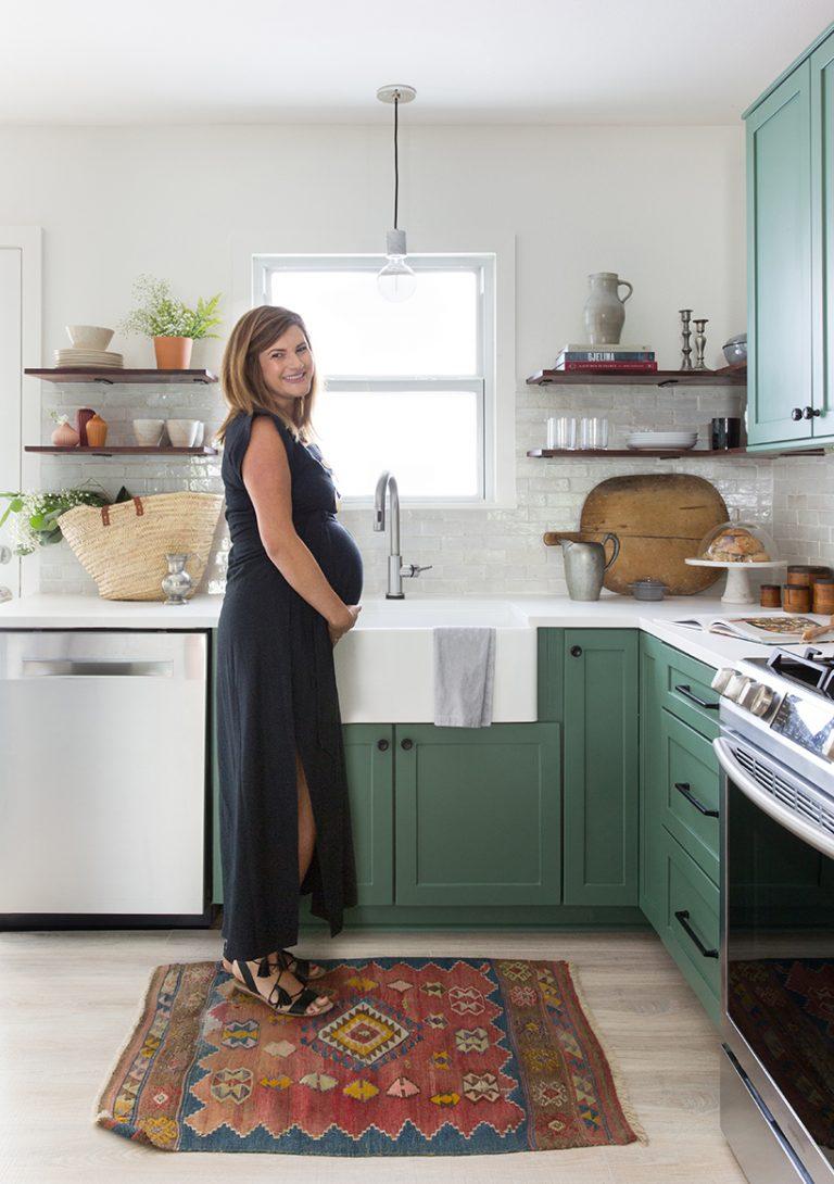Caroline Pinkston in her Cherrywood kitchen