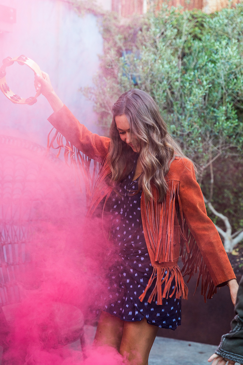 Boho Smoke Bomb Photoshoot