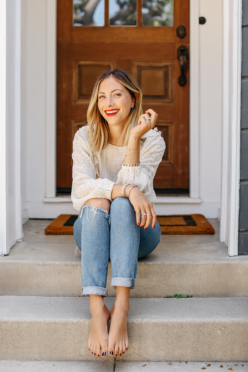 Emily Schuman of Cupcakes and Cashmere inside her Los Angeles home