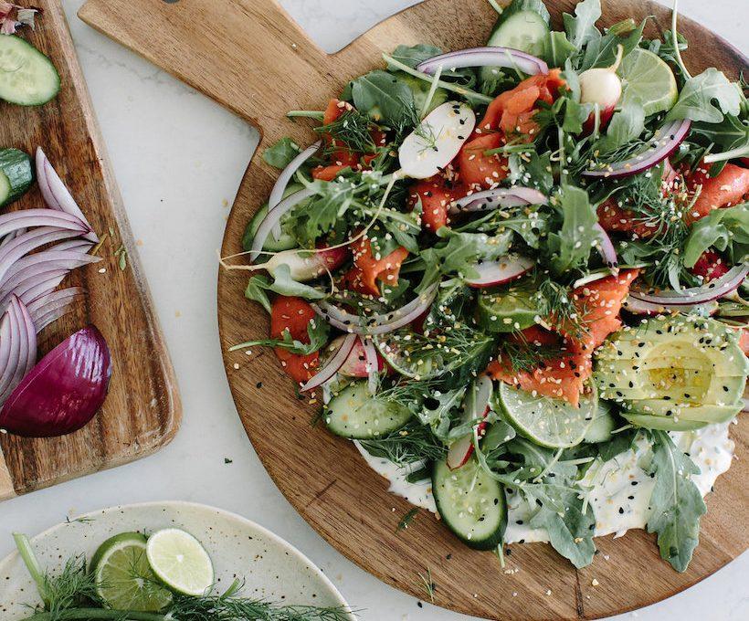 My favorite salmon salad uses Trader Joe's Everything But the Bagel Salad