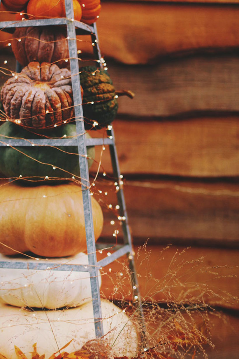 halloween decorations glow string lights outdoors