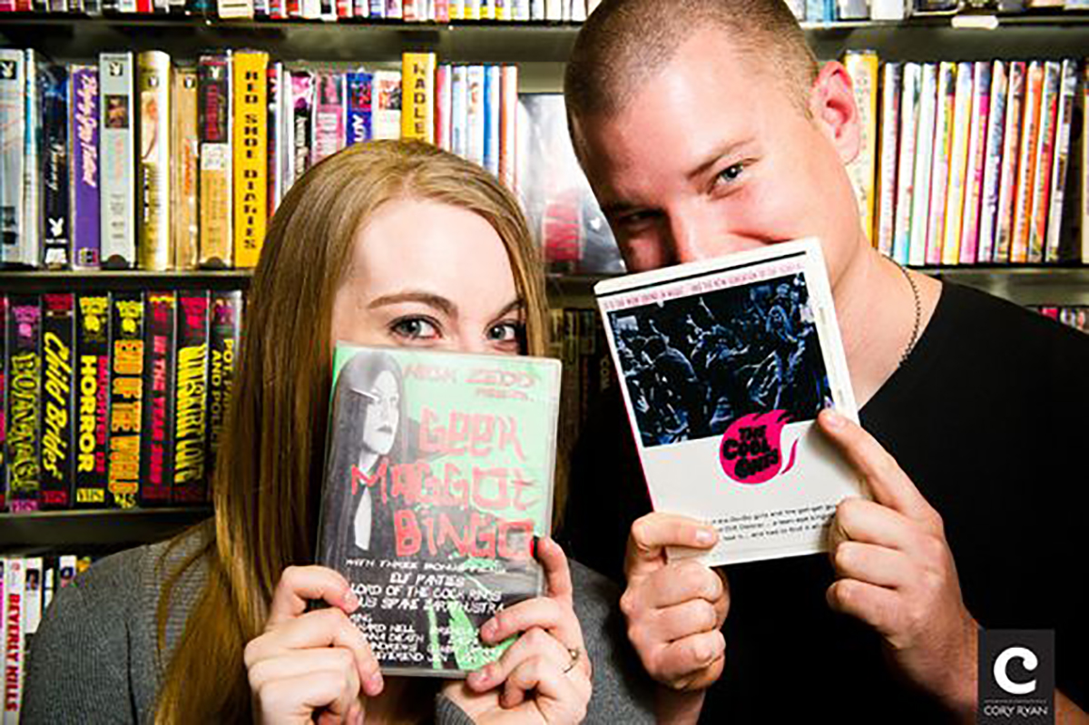 Make a date night out of browsing a retro video store and renting an 80's horror movie.