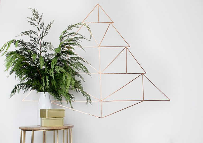 Gold Tape Christmas Tree by Hello Liddy