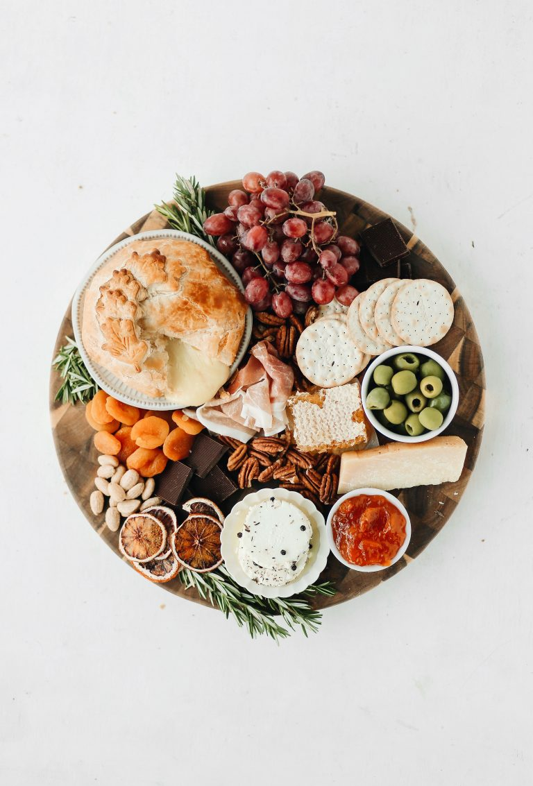 Baked Brie Cheese Board for a Party