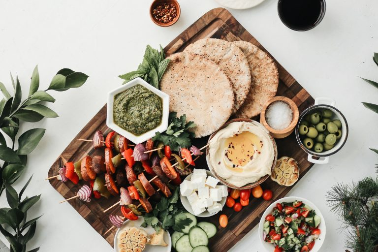 Turn your traditional holiday dinner of pita and kebab plate