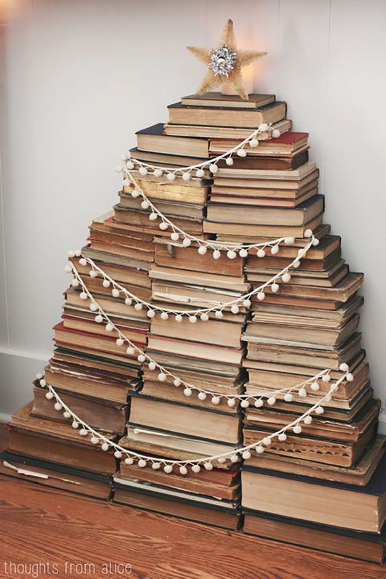 Books Christmas Tree by Thoughts from Alice