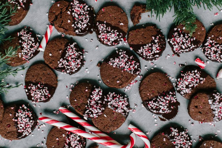 All I Want for Christmas Are These Peppermint Hot Chocolate Shortbread Cookies