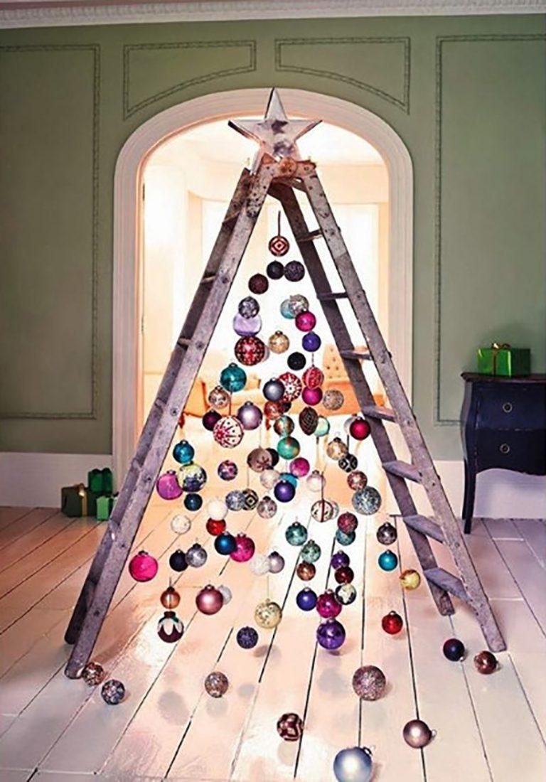 Ladder Tree via Elle Decor