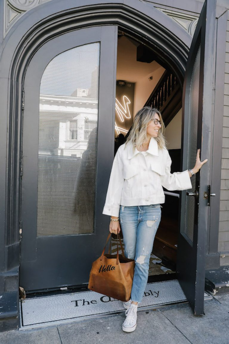 boyfriend jeans running errands