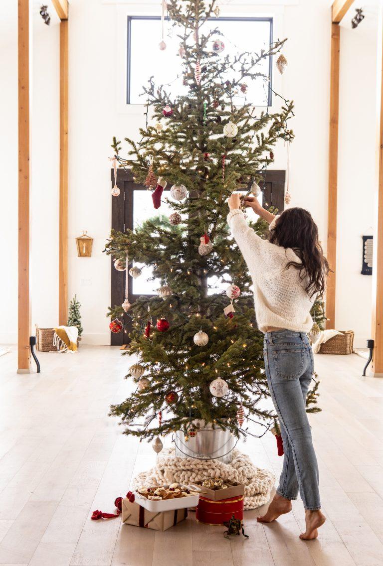 tieghan gerard's christmas tree in her studio