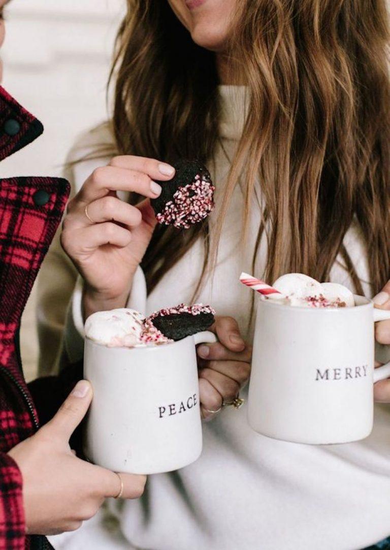 peppermint hot chocolate mugs