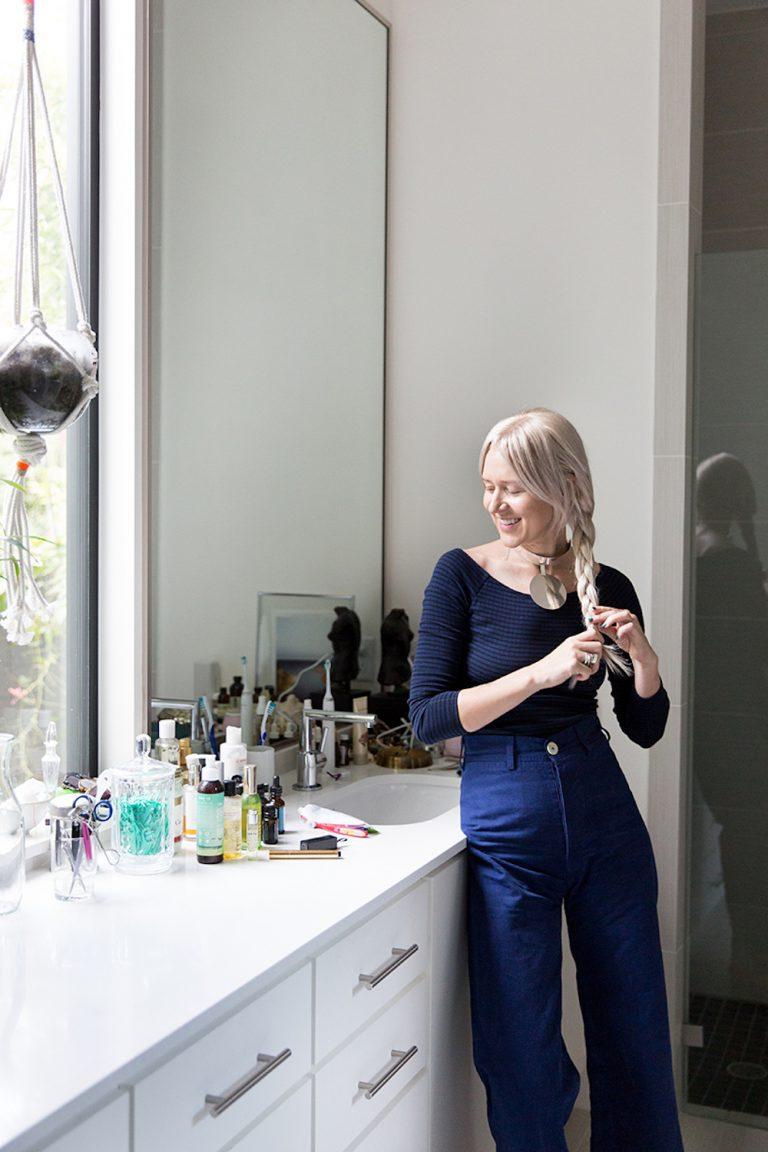 beleza, preparação, banheiro, maquiagem, produtos de banho