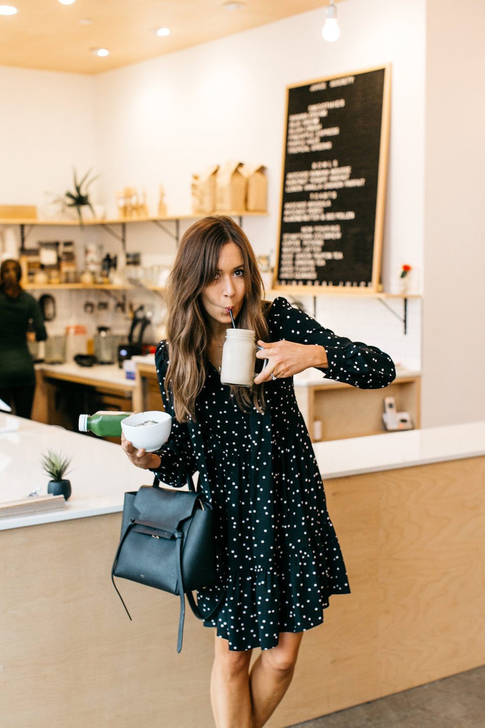 camille styles, boost your coffee, juice society, morning meeting