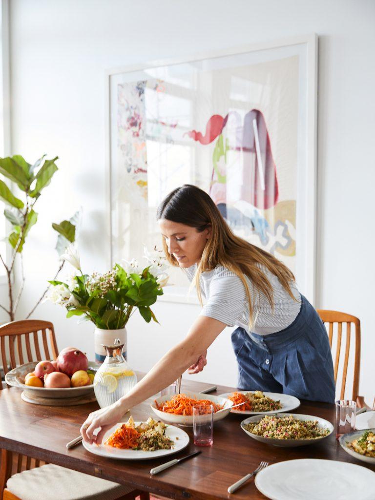 eden grinshpan serves dinner at home