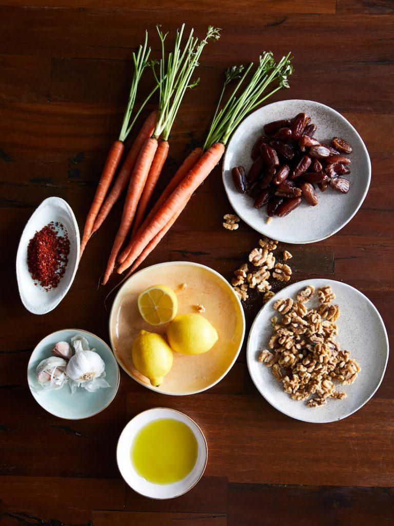 fresh ingredients food styling