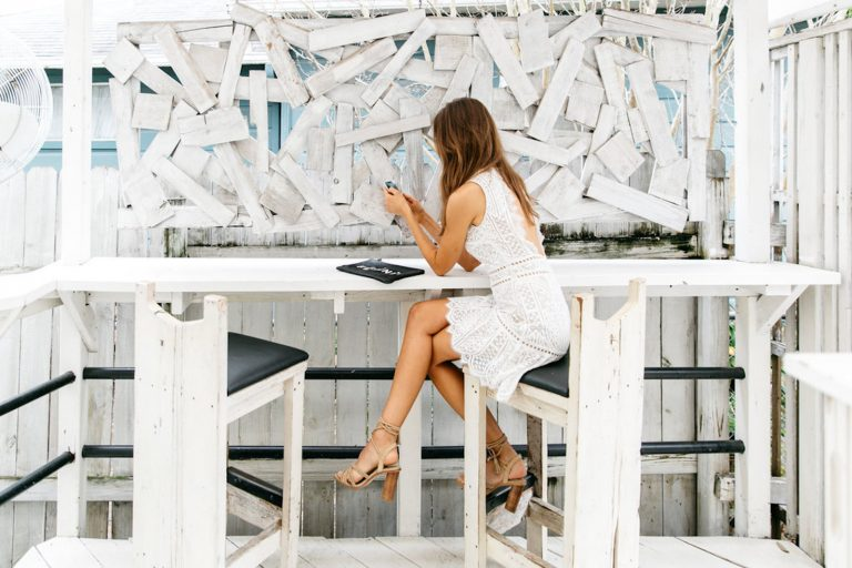 how to let go of jealousy at work, white summer dress, cell phone