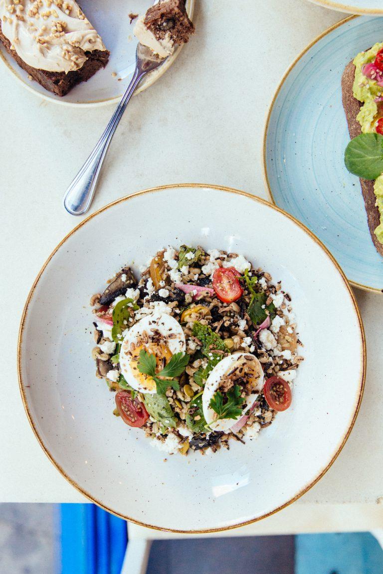 veggie grain bowl, healthy lunch