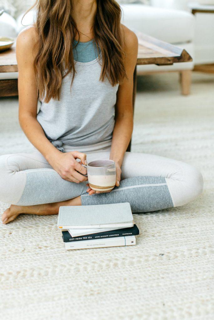 meditación, feliz, diario