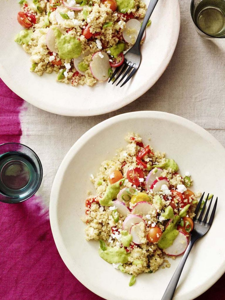 green goddess quinoa bowl, healthy recipe, whats gaby cooking