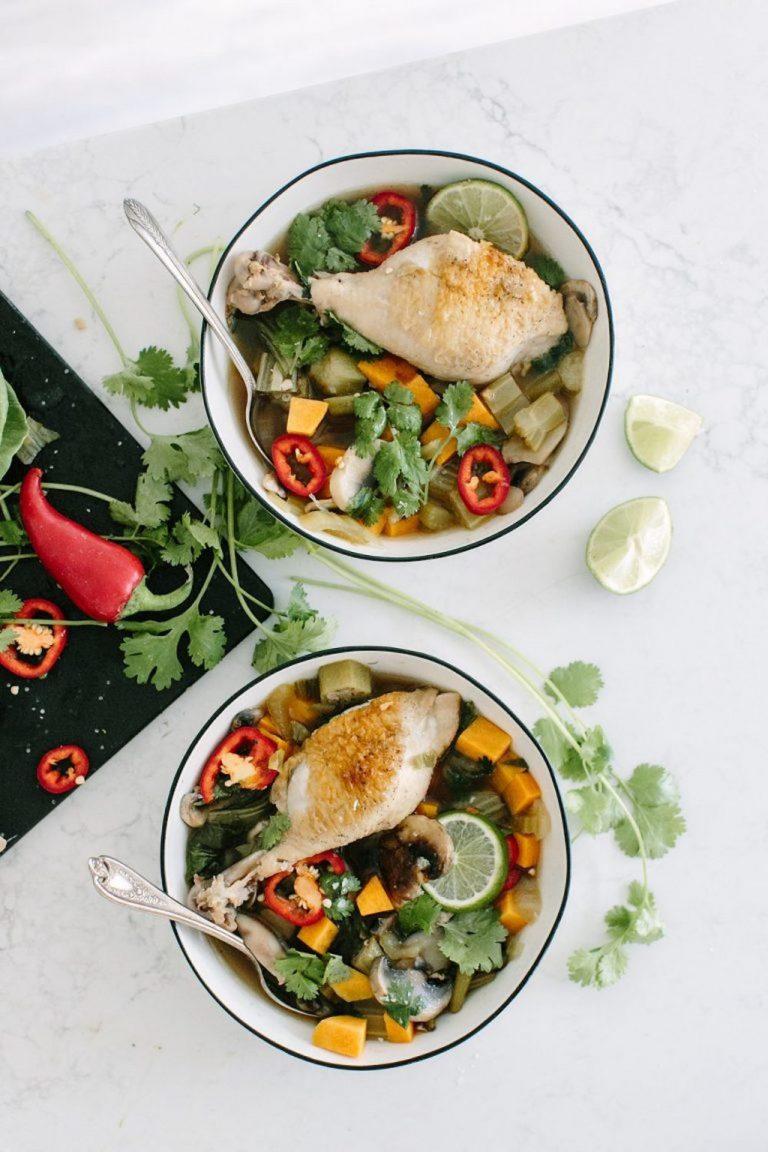 Thai Chicken Soup, Healthy Dinner Recipe