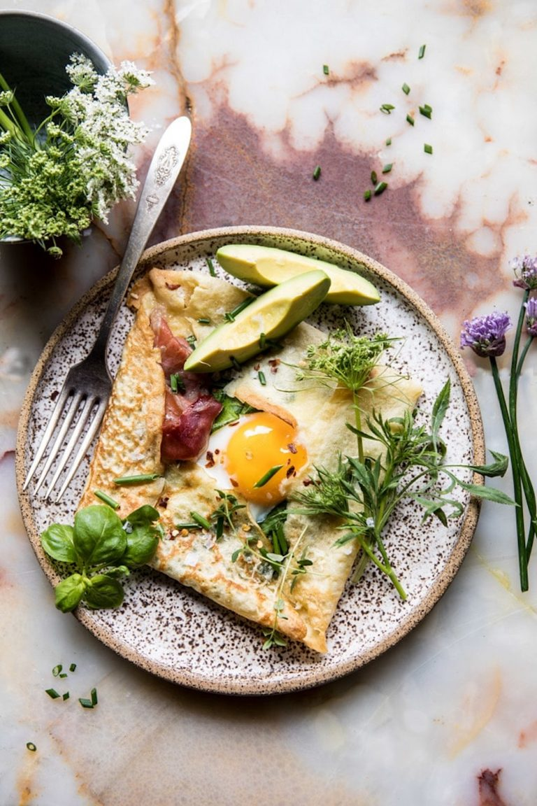 baked egg crepes, healthy breakfast