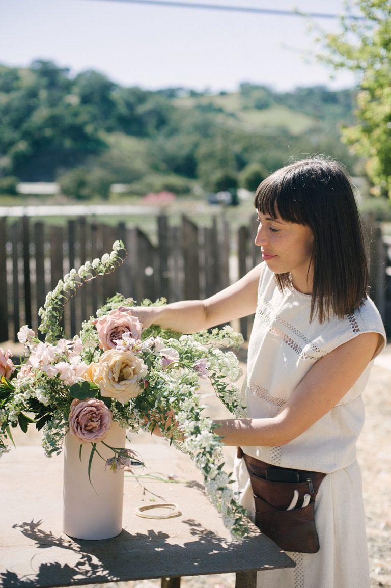 Jenni Kayne Retreat, florist, florals, woman