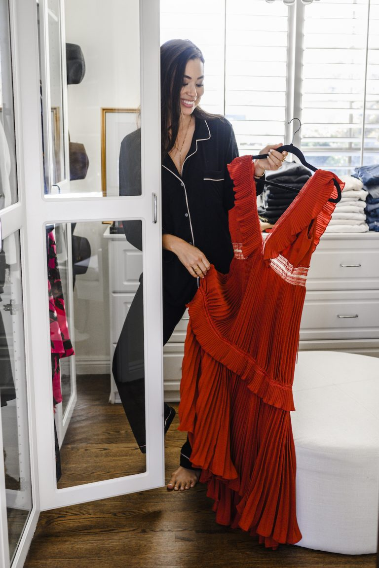 kat tanita, red dress, fancy dress, dream closet