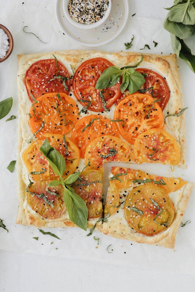 easy heirloom tomato tart