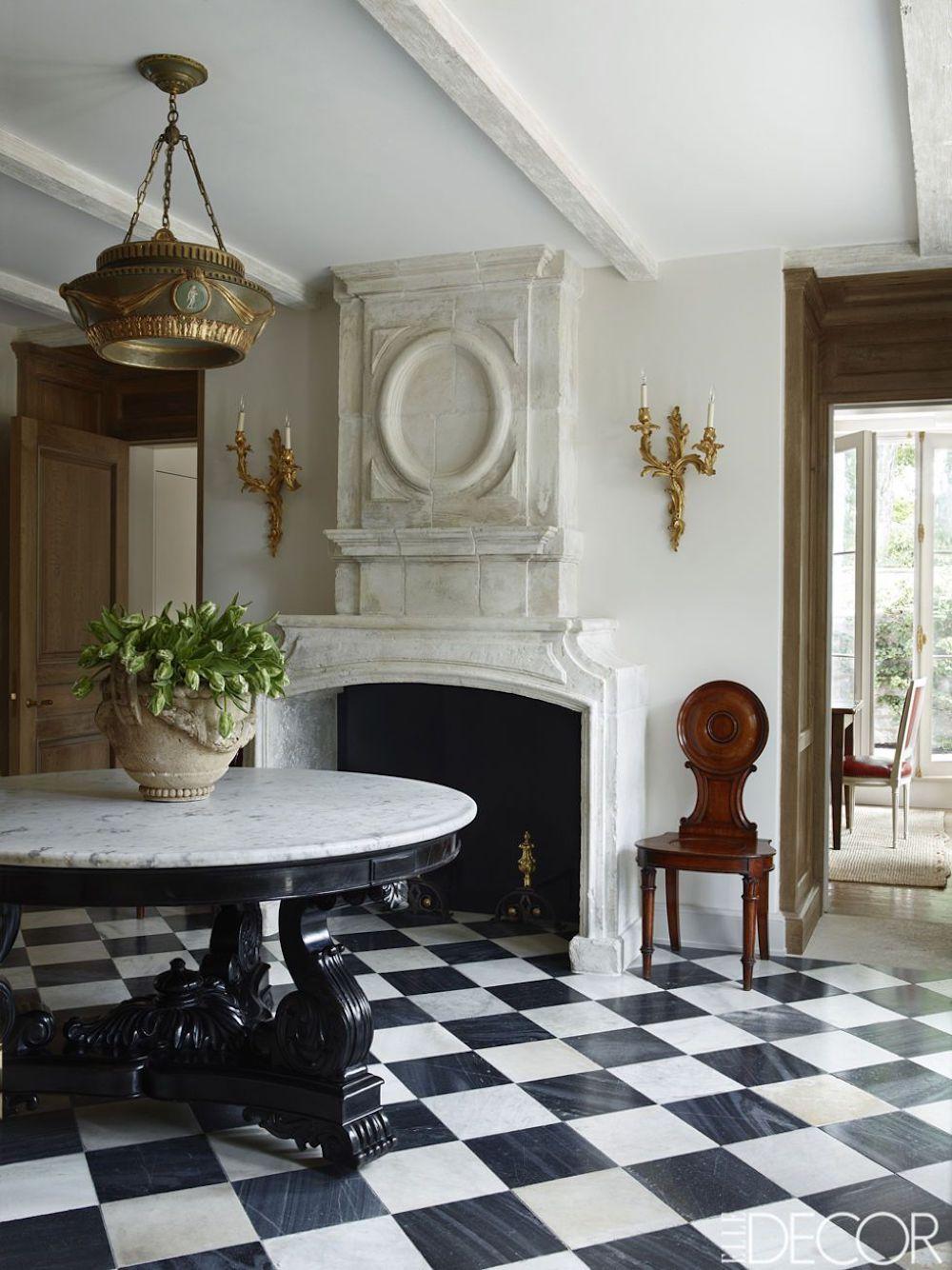 Black White Checkered Floors