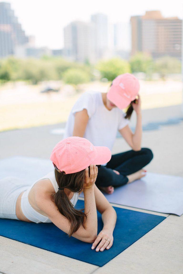 workout, outside, yoga