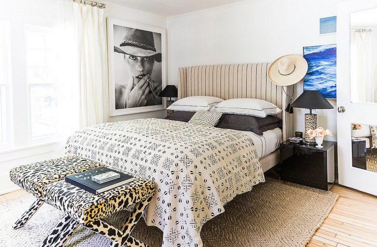 bedroom decor, trendy edgy decor