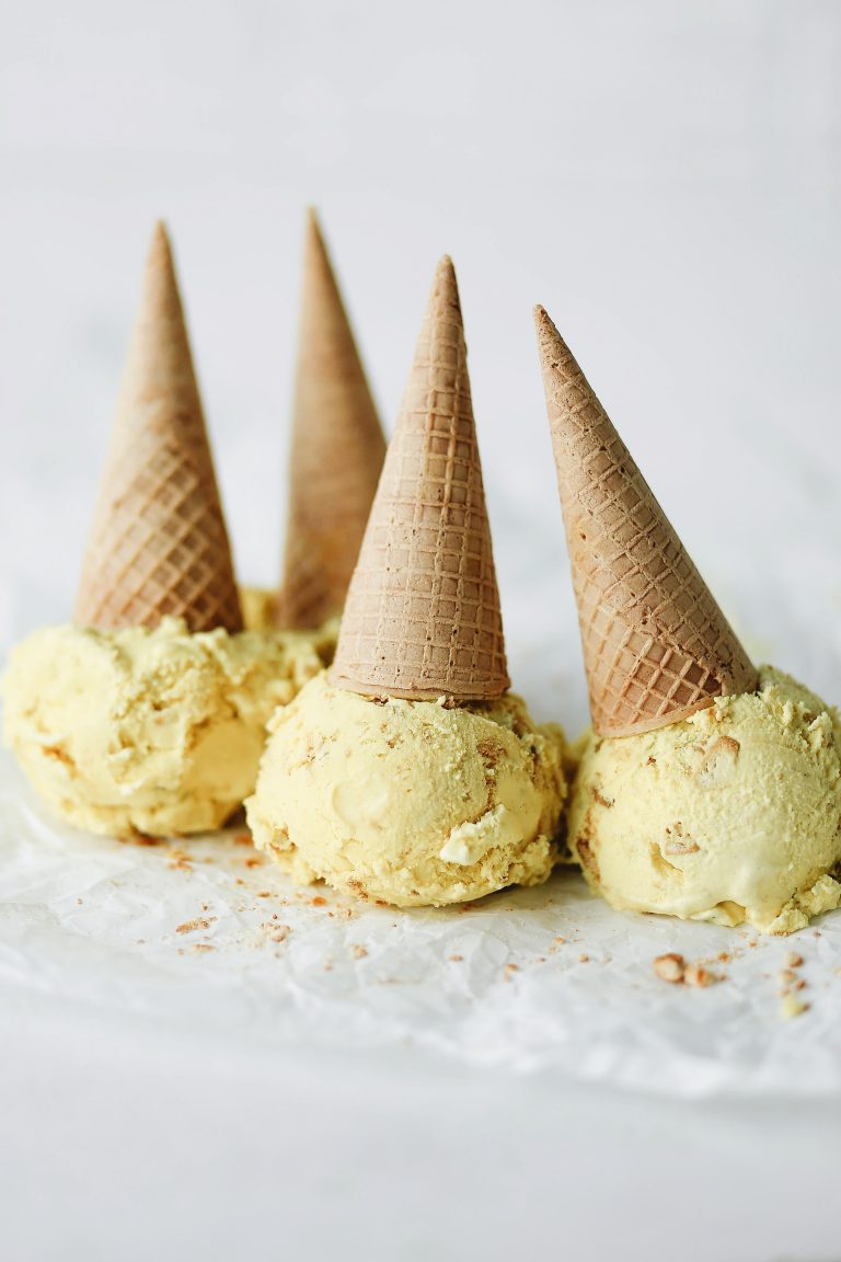 haldhi doodh ice cream, your favorite golden milk latte in an ice cream!