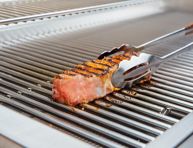 new york strip steak with grill marks