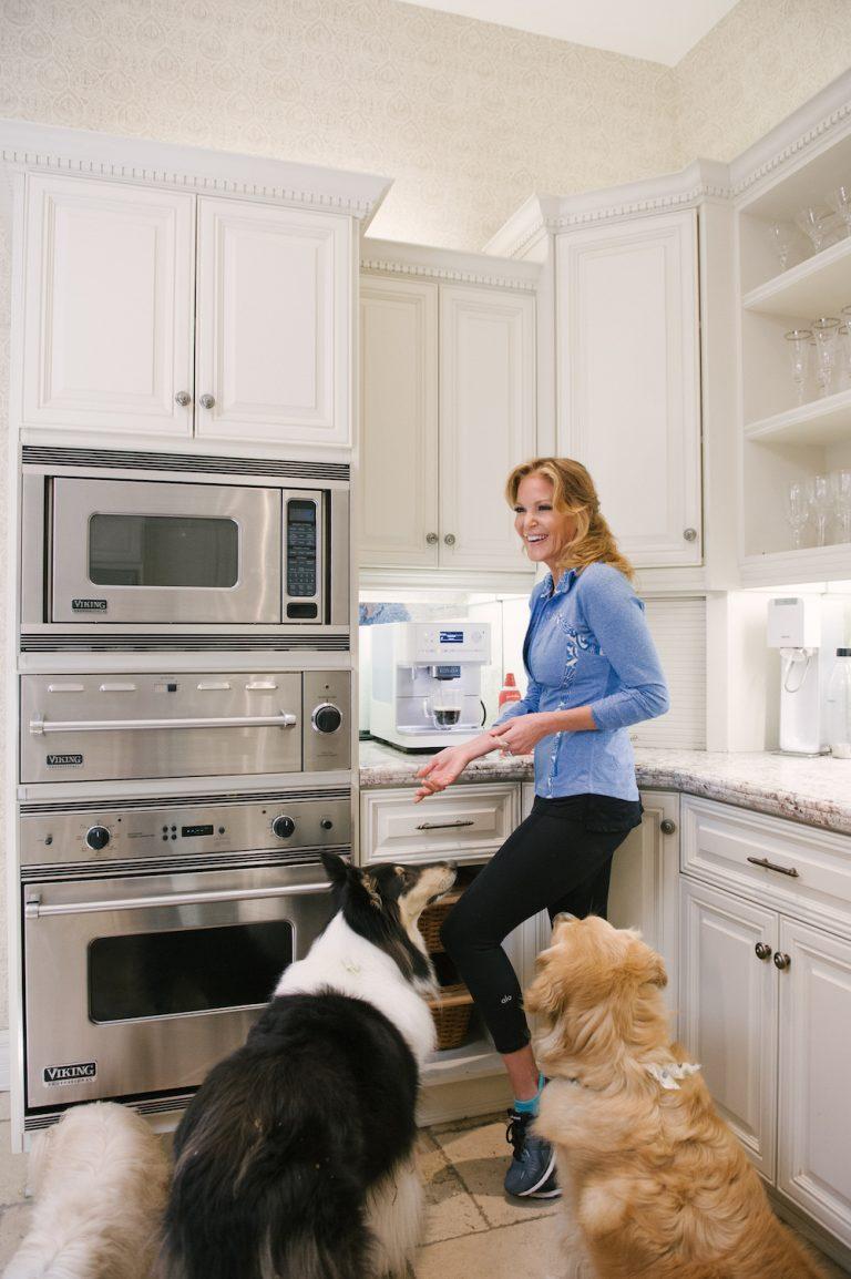 kitchen, puppies, morning routine