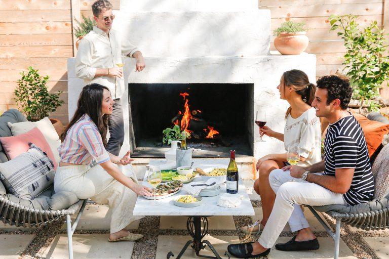 fireside chats, wine, friends