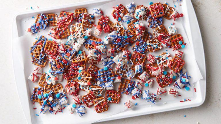 dessert snack mix, 4th of July desserts